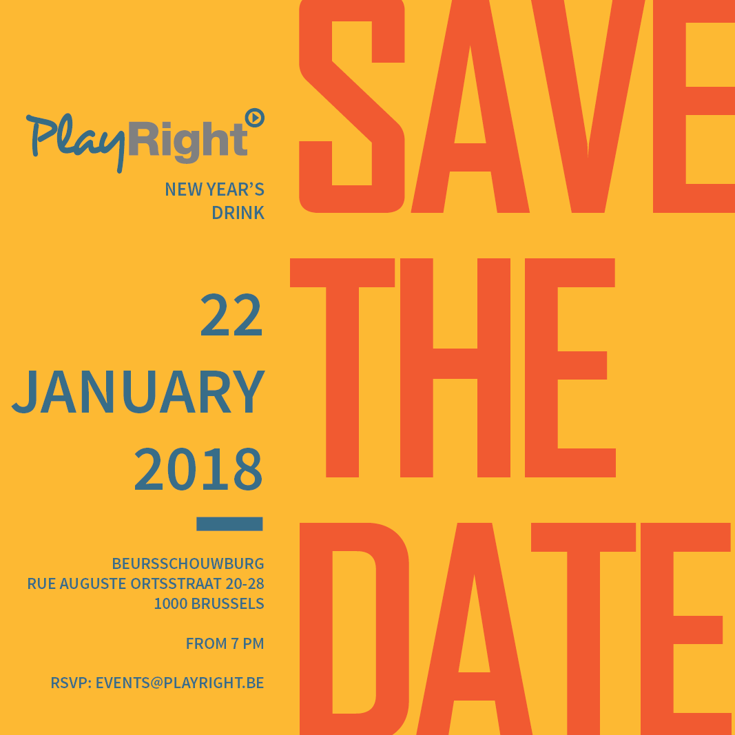 PlayRight new year's drink – 22/01/2018