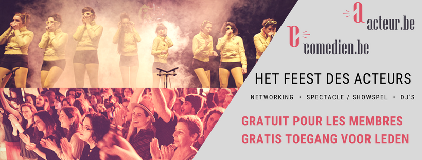 SAVE THE DATE > Het Feest des Acteurs – 21 september 2018