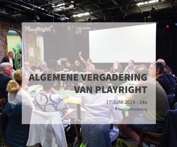 Algemene Vergadering PlayRight 2019