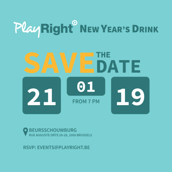 PlayRight New Year's Drink – Monday 21/01/2019