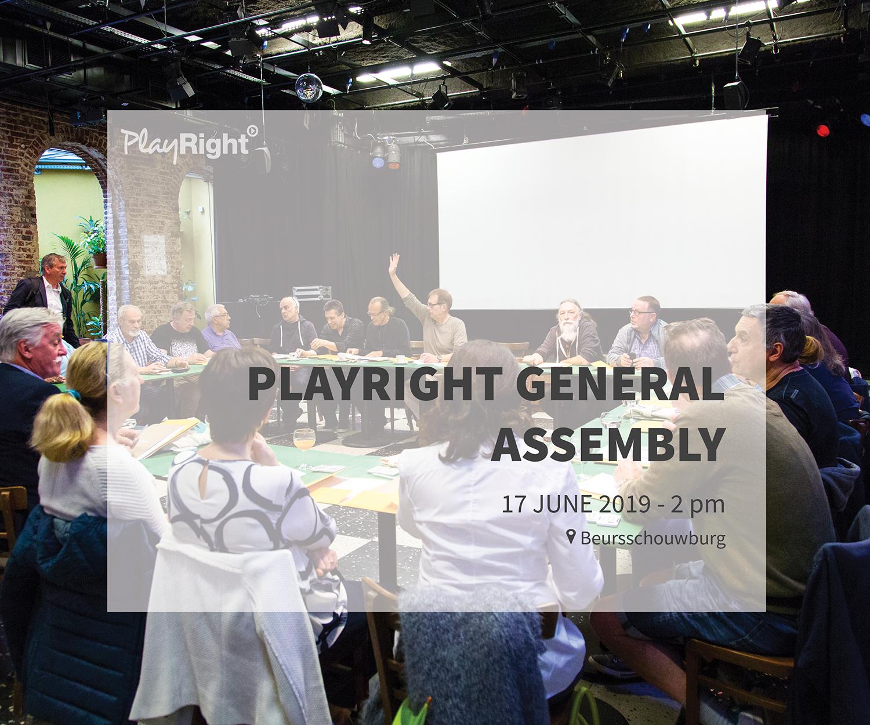 PlayRight vous invite à son Assemblée Générale 2019