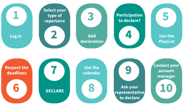 10 steps to easily declare your recordings