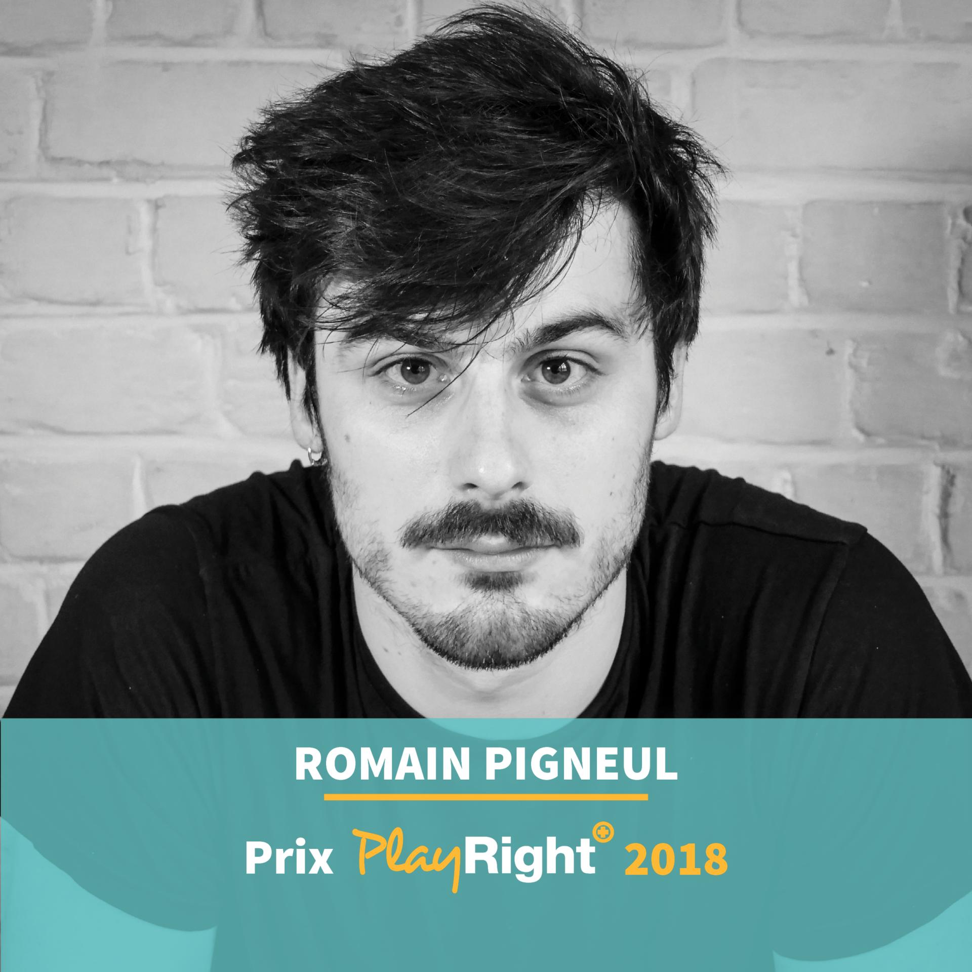 Romain PIGNEUL reçoit un prix PlayRight+