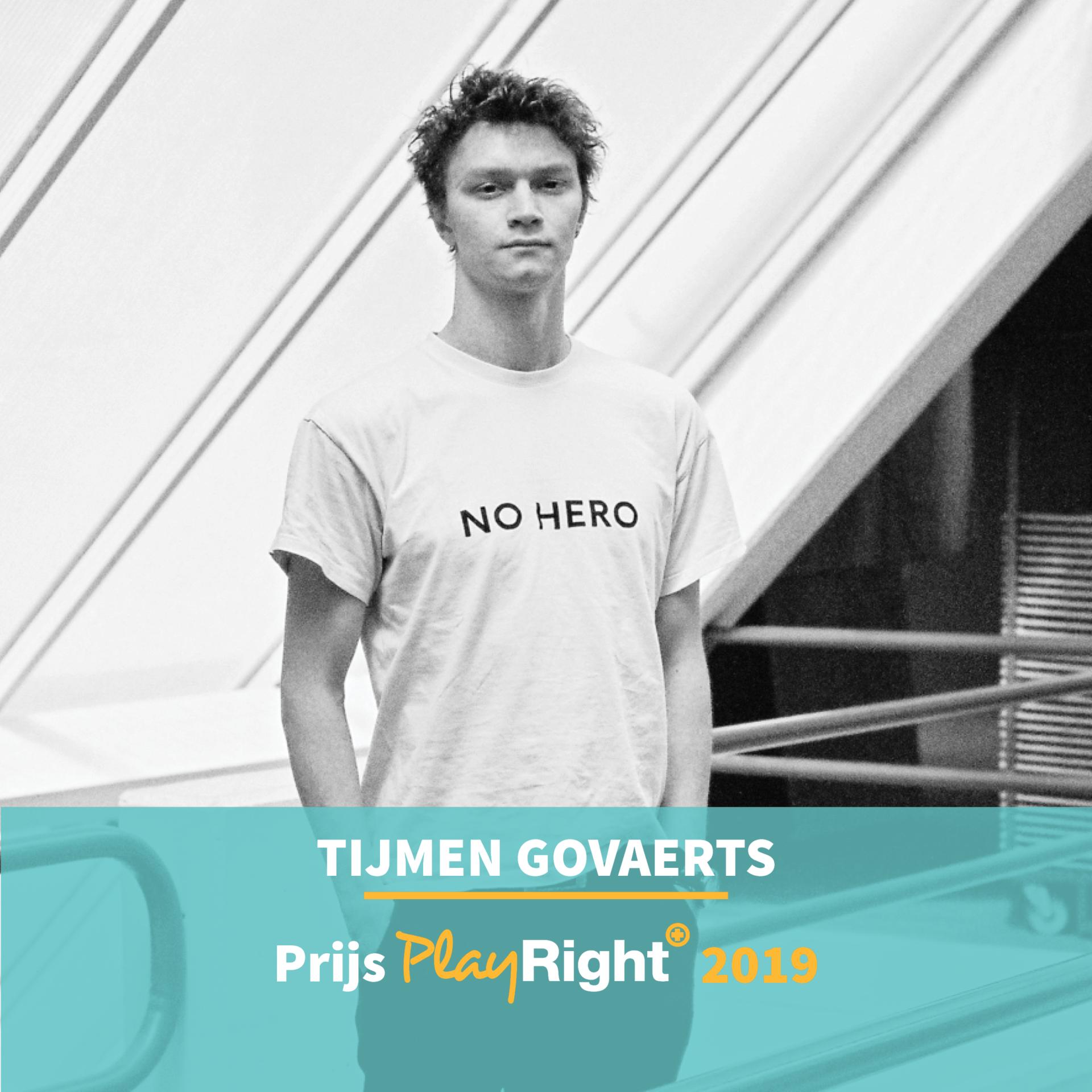 Tijmen Govaerts winnaar PlayRight+ prijs Drama Conservatorium Antwerpen