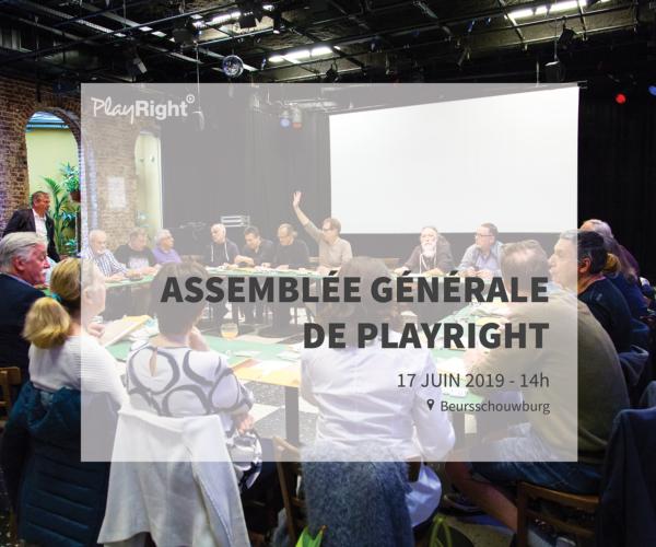Assemblée générale de PlayRight 2019