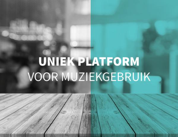 Een uniek platform voor muziekgebruikin Belgie