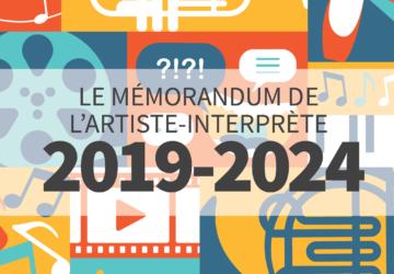 Publication : le mémorandum 2019 de l'artiste-interprète