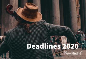 Deadlines 2020: geef jouw prestaties nu aan!