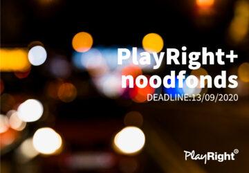 REMINDER: Geniet ook van het PlayRight+ noodfonds door je aanvraag nu in te dienen!