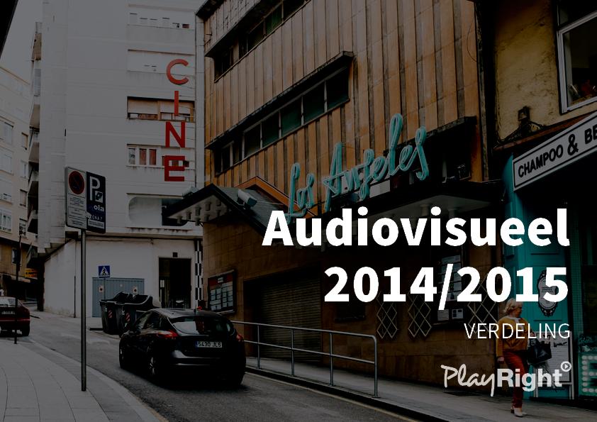 AFSLUITENDE VERDELING AUDIOVISUELE RECHTEN 2014/2015: €5,3 miljoen